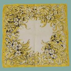 Large Yellow and White Handkerchief Hanky