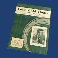 Hank Williams Cold, Cold Heart Recorded Tony Bennett