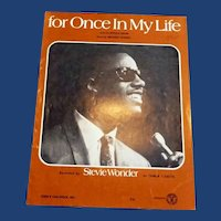 For Once in My Life Recorded by Stevie Wonder Sheet Music