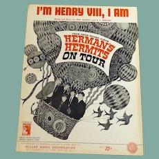 Herman's Hermits Sheet Music I'm Henry VIII, I Am Sheet Music