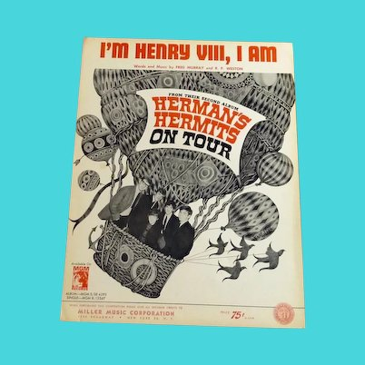 Herman's Hermits Sheet Music I'm Henry VIII, I Am Sheet Music