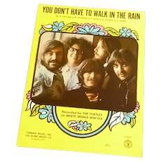 You Don't Have to Walk in the Rain Sheet Music The Turtles