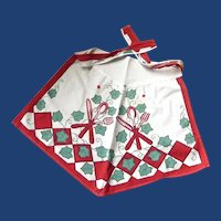 Summer Time Half Cotton Apron 1950's