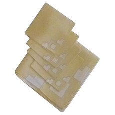Yellow Linen Card Table Cloth and Napkins