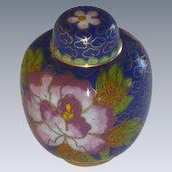 Miniature Asian Cloisonné Cloisonne Ginger Jar