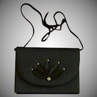Black Evening Bag Purse Nina Ricci 1980s
