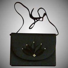 Black Evening Bag Purse Nina Ricci 1980s