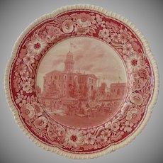 Royal Cauldon Historical Society Plate Pink Transfer Ware
