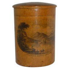 Mauchline Ware Small Box Container  with Lid