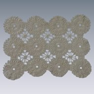 Ecru Tan Crochet Doily Placemat Set of 5