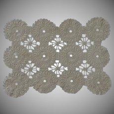 Ecru Tan Crochet Doily Placemat Set of 5