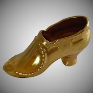 1940's Porcelain High Heel China Shoe