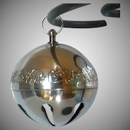 Collectable Silver Plate 1997 Christmas Sleigh Bell Ornament