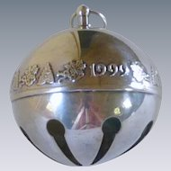Collectable Silver Plate 1999 Christmas Sleigh Bell Ornament