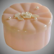 Menda Co. Plastic Vanity Powder Box with Powder Puff