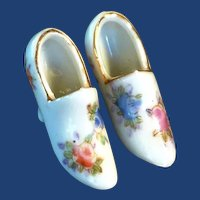 Miniature Porcelain Japan Pair of Shoes