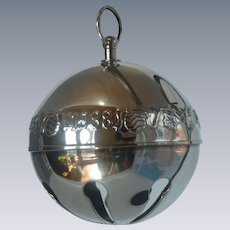 Collectable Silver Plate 1988 Christmas Sleigh Bell Ornament