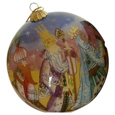"""Li Bien"" Ornament 2003 Three Wise Men and Bethlehem"