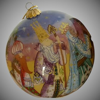 """Li Bien"" Ornament 2003 Three Wise Men and Bethlehem"
