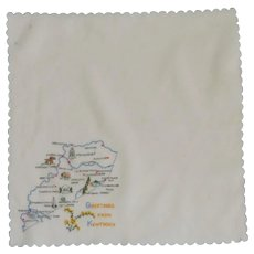 Kentucky State White Handkerchief Hanky
