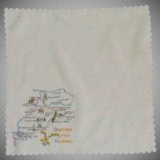Kentucky State White Handkerchief Hanky