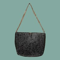 Whiting & Davis 1960's Black Metal Mesh Purse