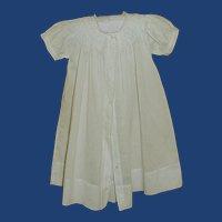 White Long Christening Dress for 6 Month Baby