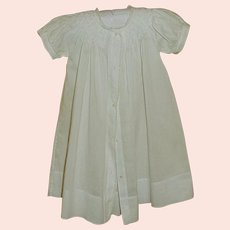 White Long Christening Dress for 6 Month Baby