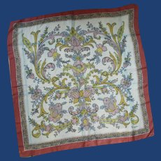 Italy Floral Bayron Silk Scarf