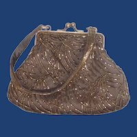 Copper Beaded Cache Small Hand Bag Evening Purse