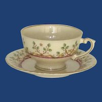 Syracuse Pendleton Federal Shaped Tea Cup and Saucer