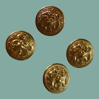 Four Metal Eagle USA Stars Navy Buttons