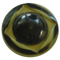 Green and Black 1940's Button