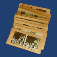 1900's Group of 24 Stereocards Life of Jesus Story