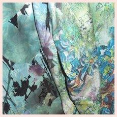 Beautiful Two Sided Silk Scarf Shawl