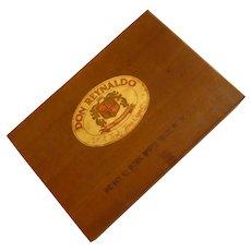 Vintage Wood Cigar Box Don Reynaldo