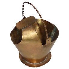 Cigarette Ashtray Copper Coal Scuttle