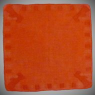Red / Orange Scottie Dog Handkerchief Hanky