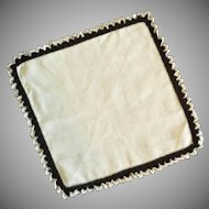 White / Black Edged Handkerchief Hankie
