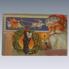 Santa Christmas Postcard  -1930s