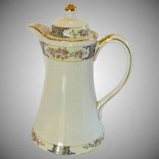 Vintage Nippon Hand Painted Chocolate Coffee Tea Pot