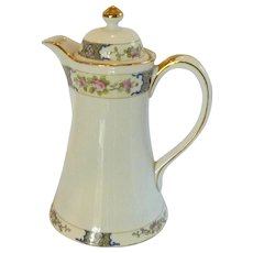 Vintage Nippon Hand Painted Chocolate Coffee Tea Pot