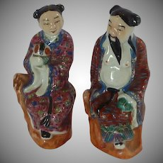China Made Porcelain Figurines Man and Wife
