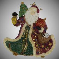 Santa Claus Hand Painted Resin Ornament