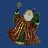 Santa Claus Hand Painted Resin Ornament