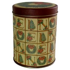 Christmas Empty Noel Tin Can