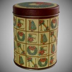 Christmas Empty Noel Tin Can