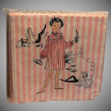 Original Early 1960's Paper Napkins Slumber Party