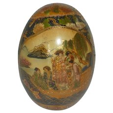 Large Satsuma Hand Painted Decorated Egg