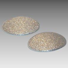 TipToe Oval Silver Glitter Shoe Clips